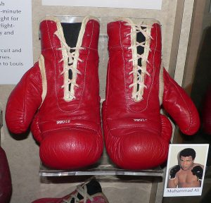 Muhammad Ali Fight Worn Boxing Gloves Muhammad Ali's boxing gloves (Creative Commons CC-BY-SA-2.5)