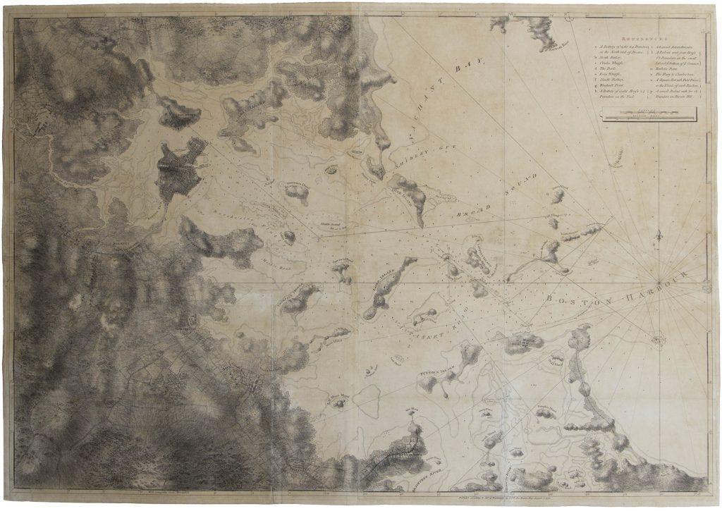 DesBarres Revolutionary War map