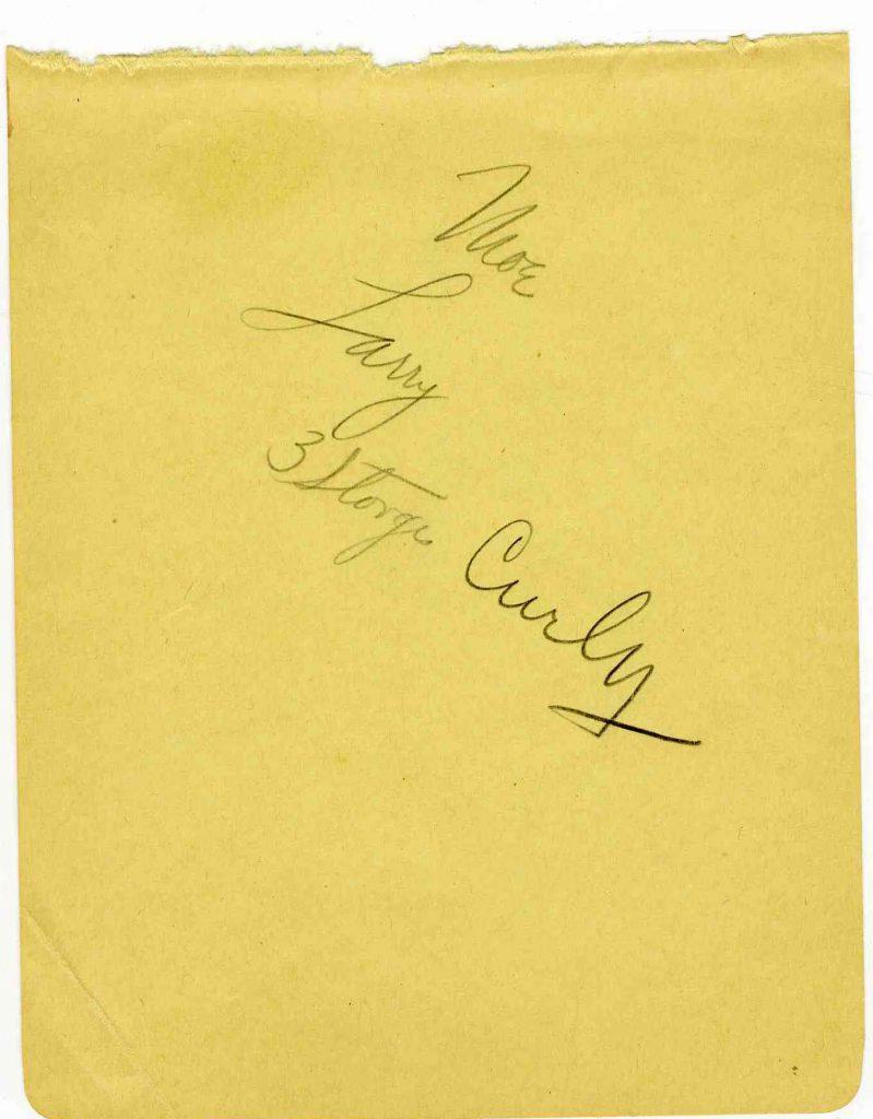 Three Stooges autographs