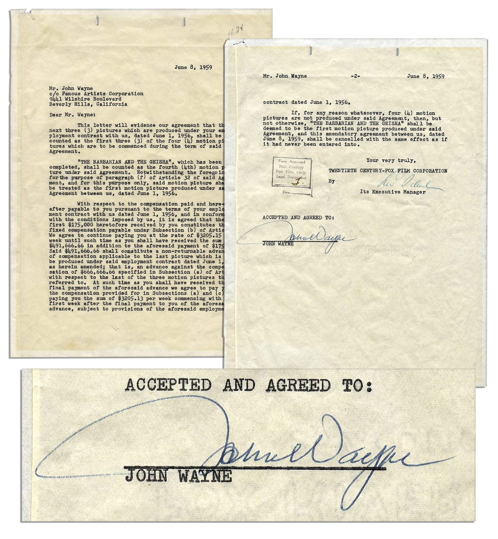 b5d0f92c1 Sell Your John Wayne Autograph at Nate D. Sanders Auctions Today!
