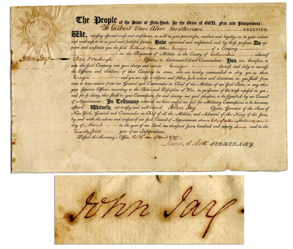 John Jay Autograph