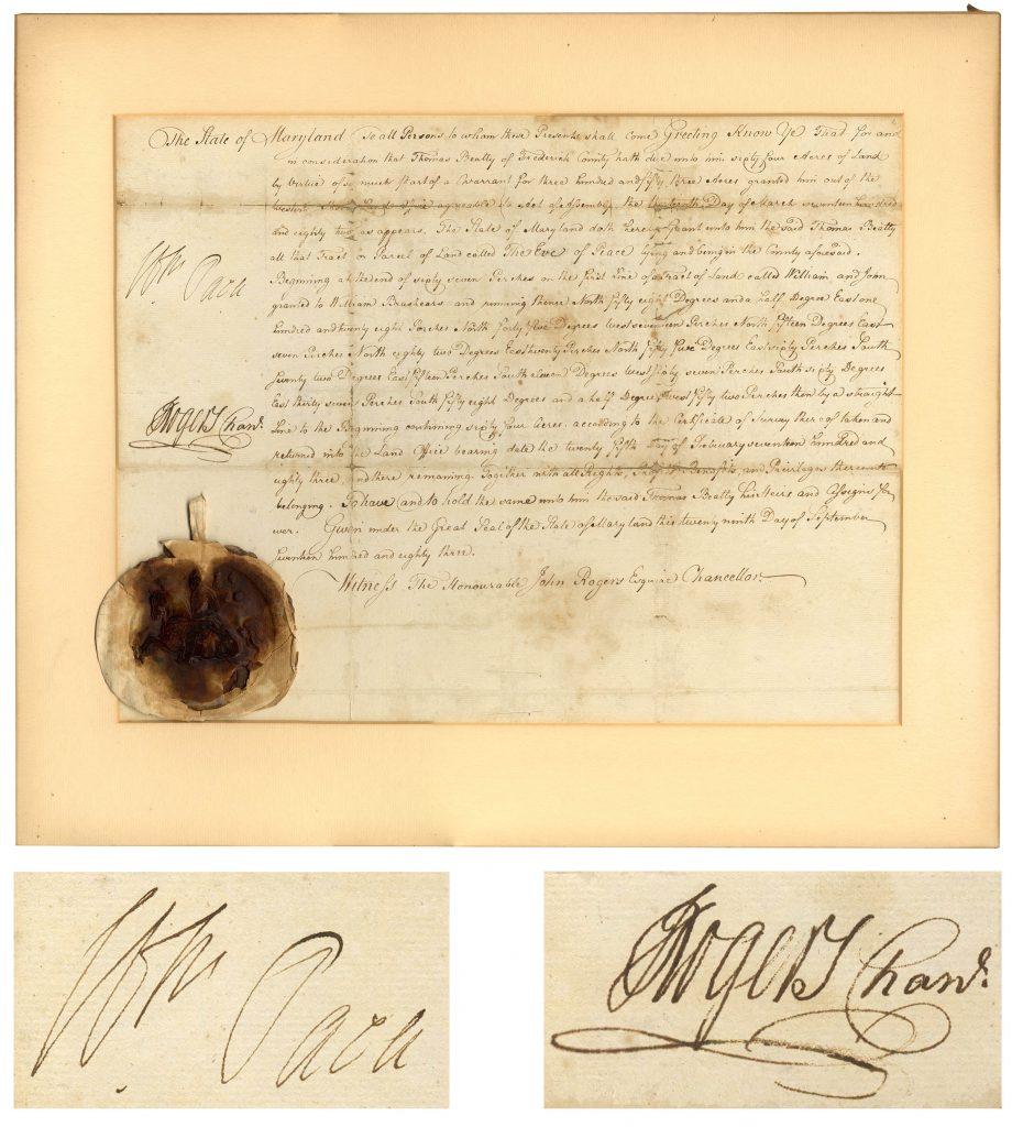 William Paca autograph