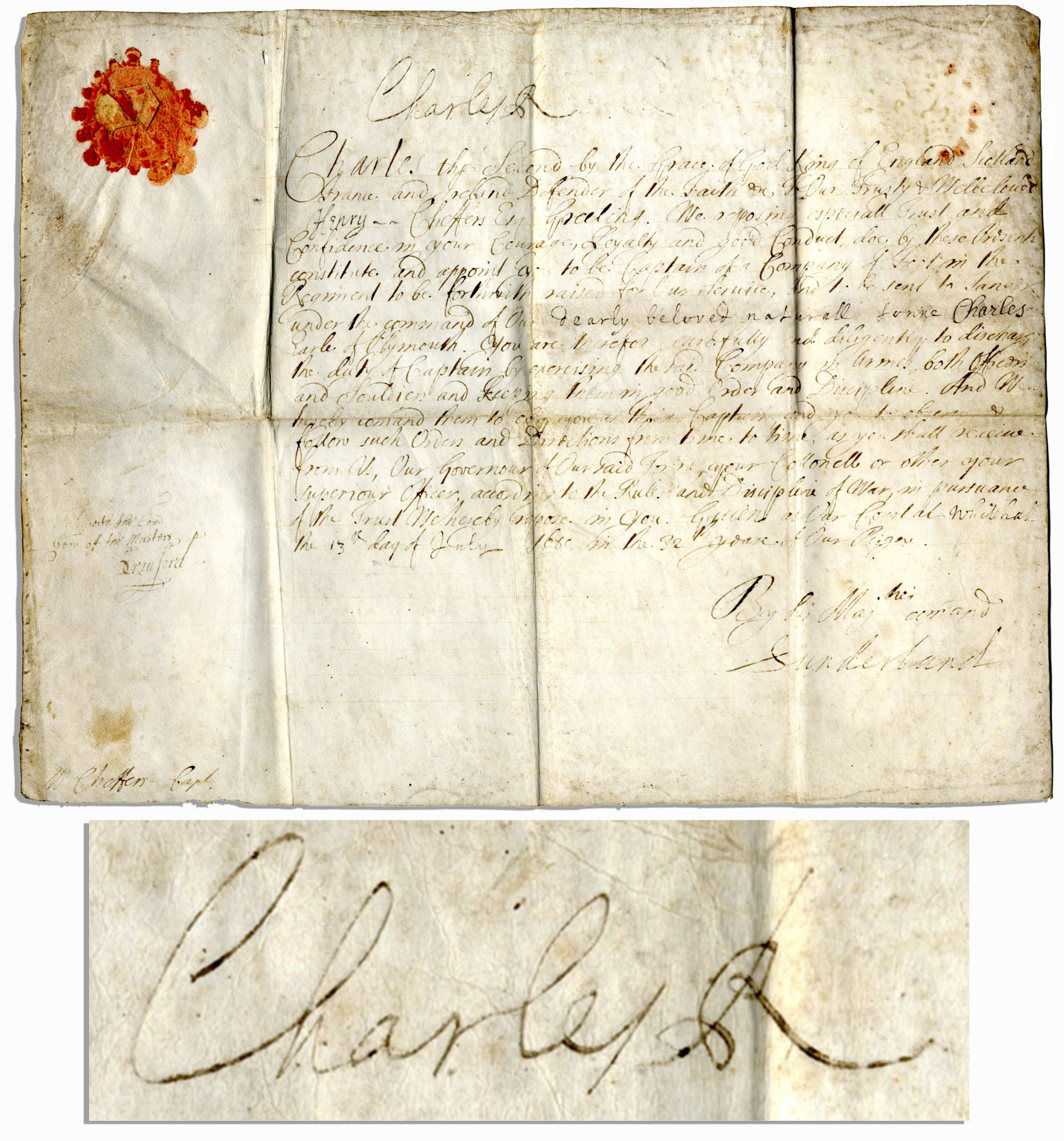 Auction Your King Charles II Autograph At Nate D Sanders