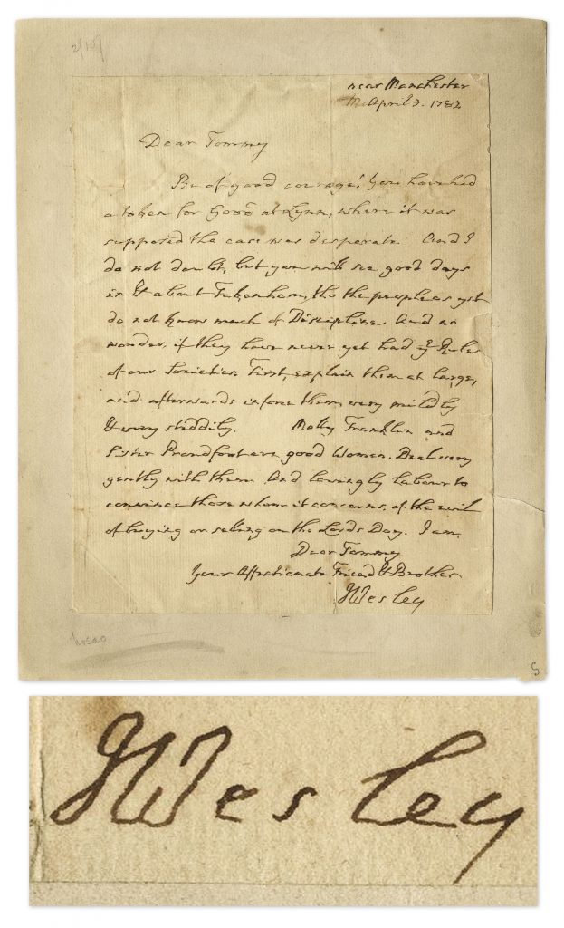 John Wesley autograph