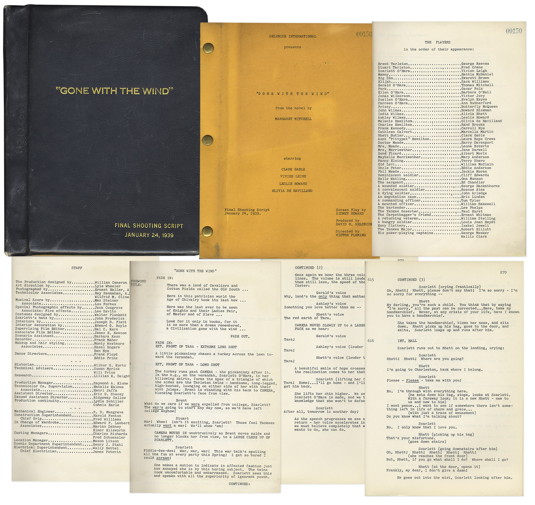 Auction Your Gone With The Wind Script At Nate D Sanders Auctions