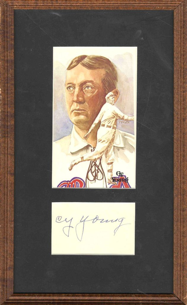 Cy Young autograph