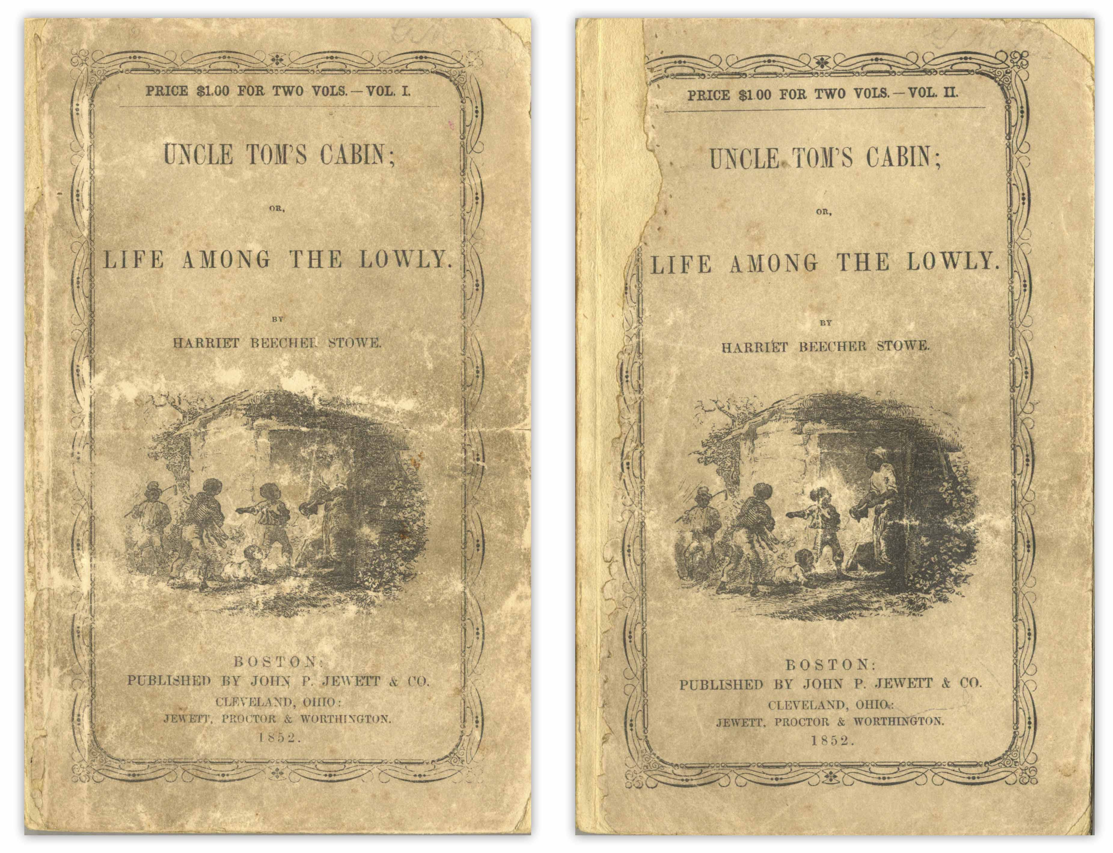 Harriet Beecher Stowe Uncle Tom Cabin First Printing in Wrappers