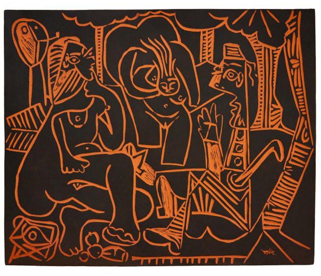 Pablo Picasso Tete de femme couronnee de fleurs A R 237