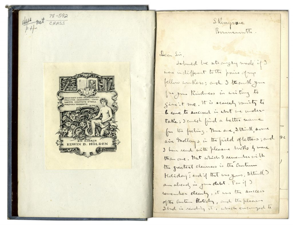 Robert Louis Stevenson autograph