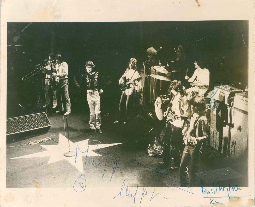 Mick Jagger autograph