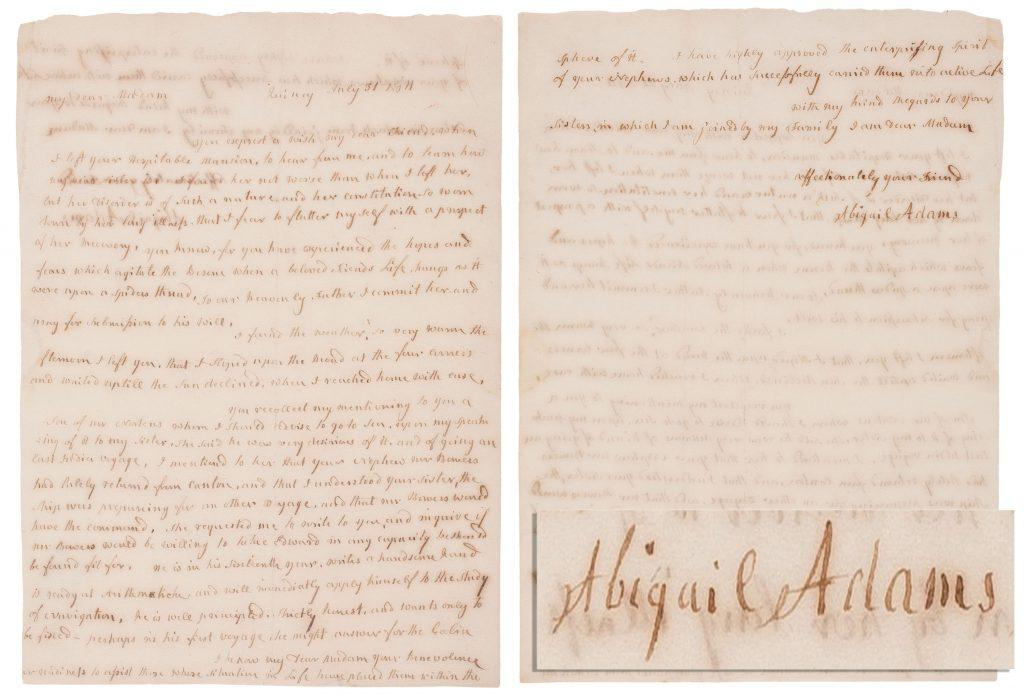 Abigail Adams autograph
