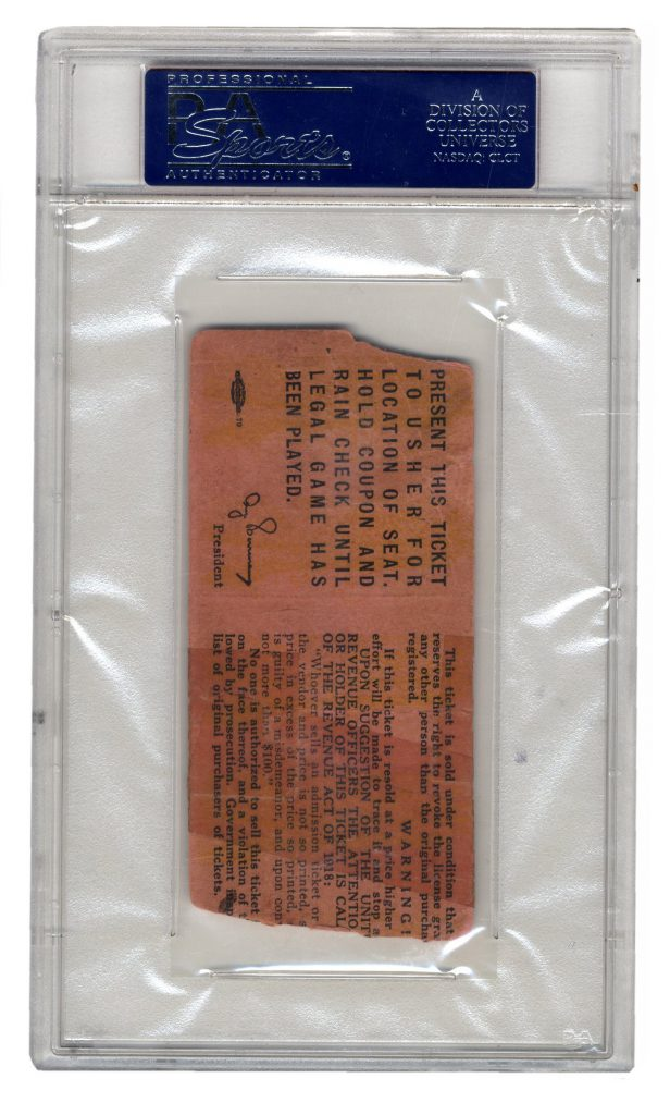 1919 World Series ticket