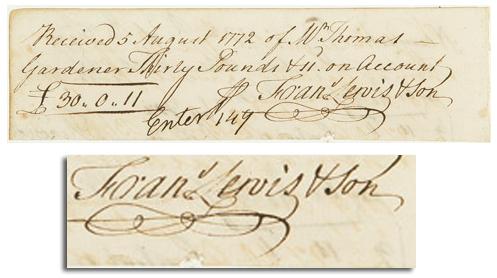William Hooper autograph