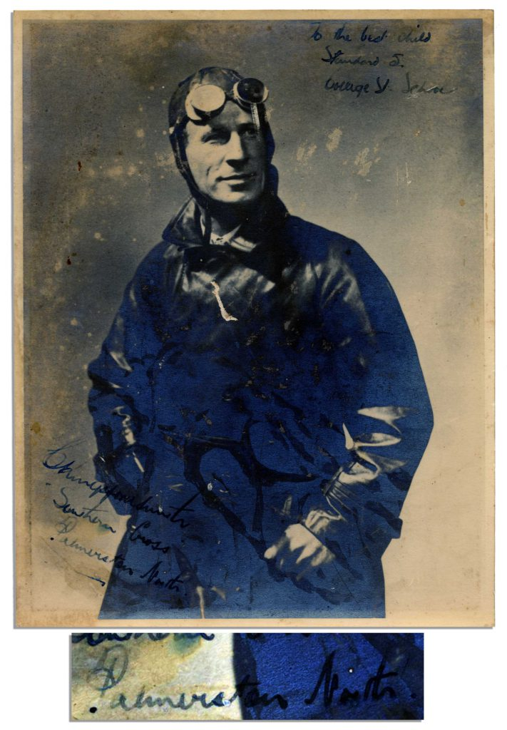 Charles Kingsford Smith autograph