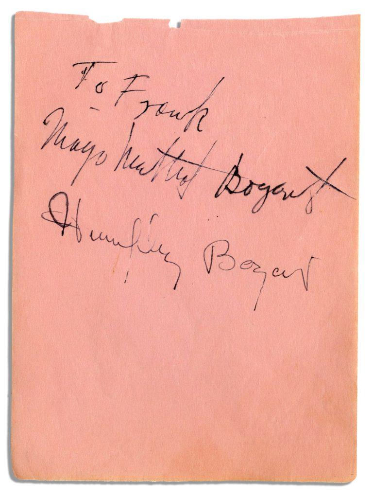 Humphrey Bogart Autograph