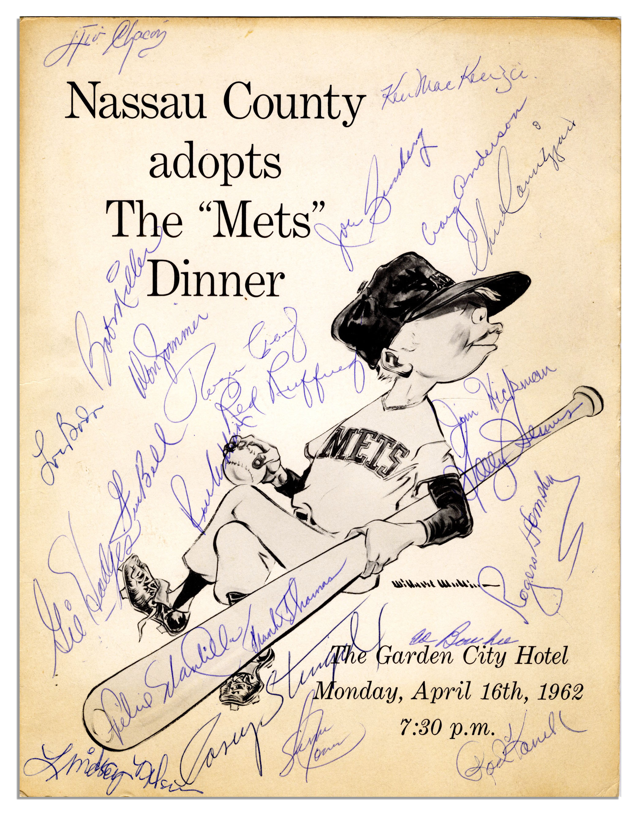 Sell Your 1962 New York Mets Autograph at Nate D  Sanders