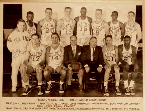 1959 Boston Celtics autographs
