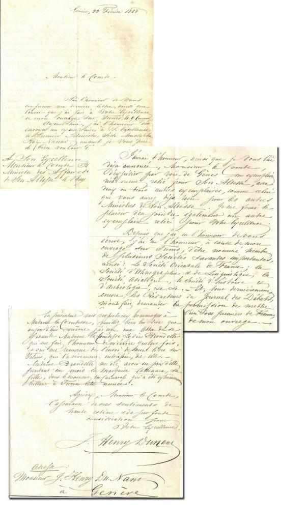 Henry Dunant Autograph