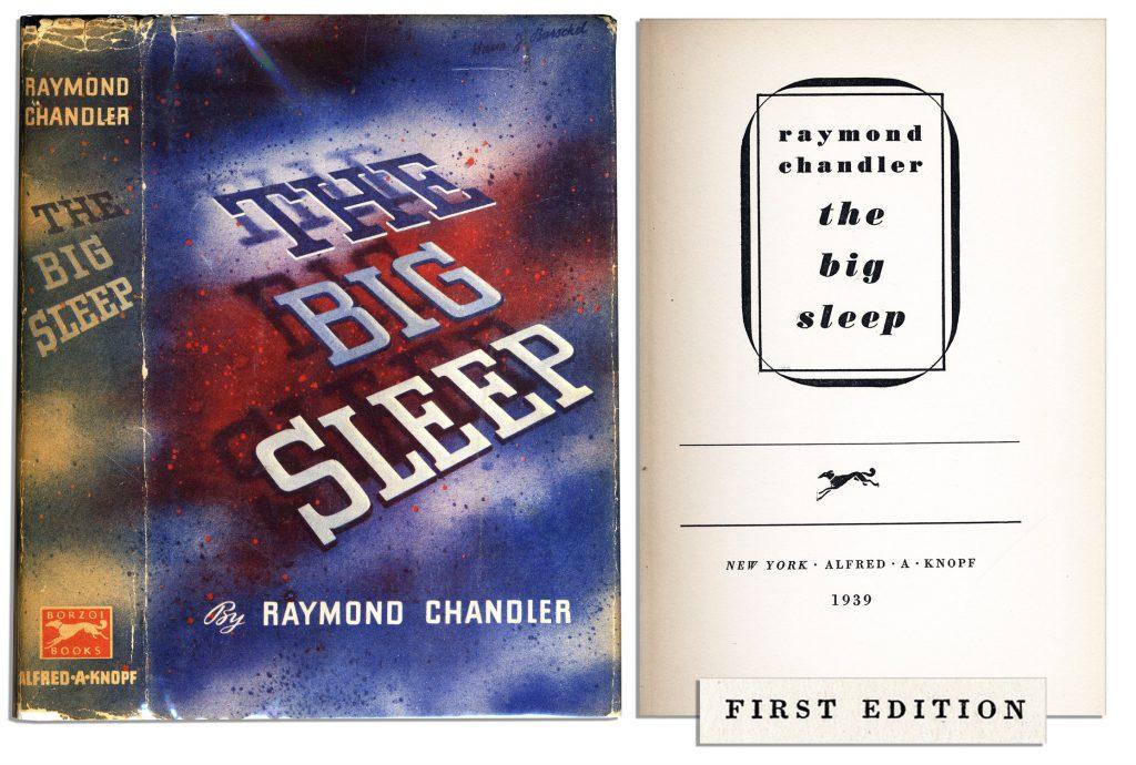 Raymond Chandler Big Sleep First Edition