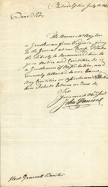 Joseph Brant autograph
