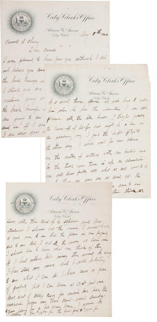 Cap Anson Autograph