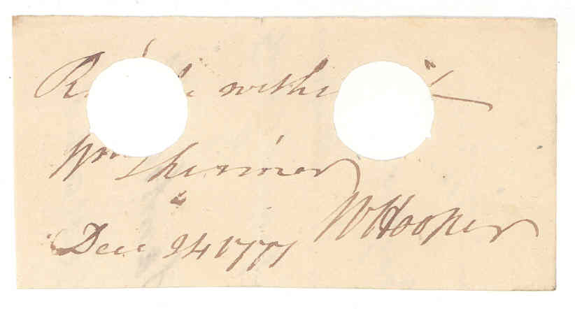 William Hooper Autograph
