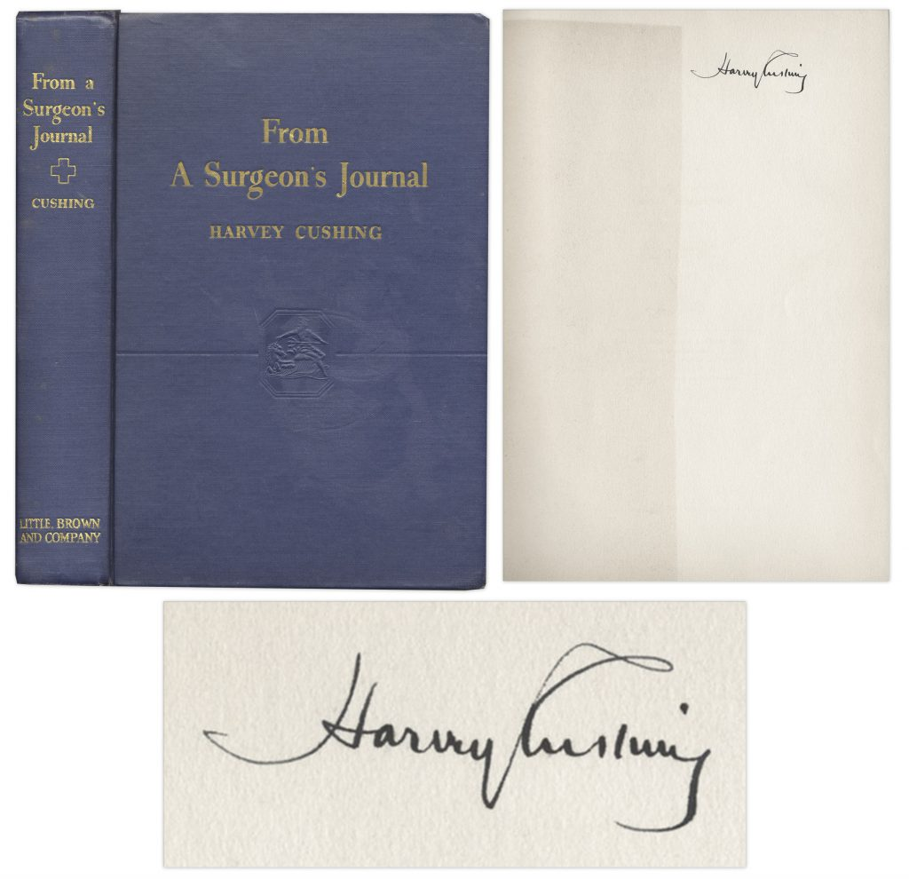 Harvey Cushing Autograph
