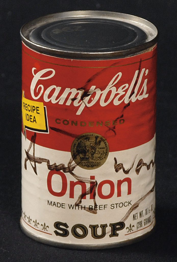 Andy Warhol Signed Campbell's Soup Can