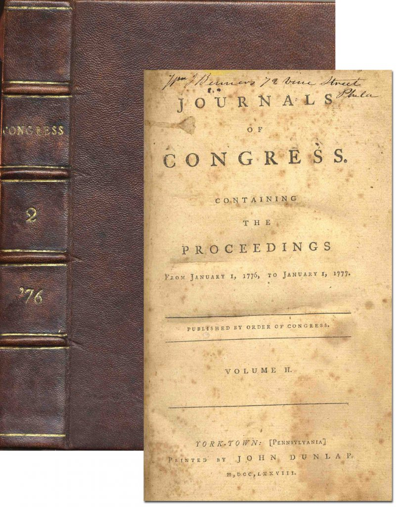 Journals of Congress Containing The Proceedings From January 1, 1776 to January 1, 1777