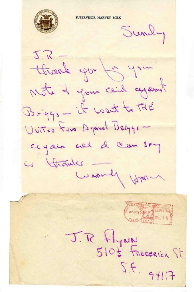 Harvey Milk Autograph