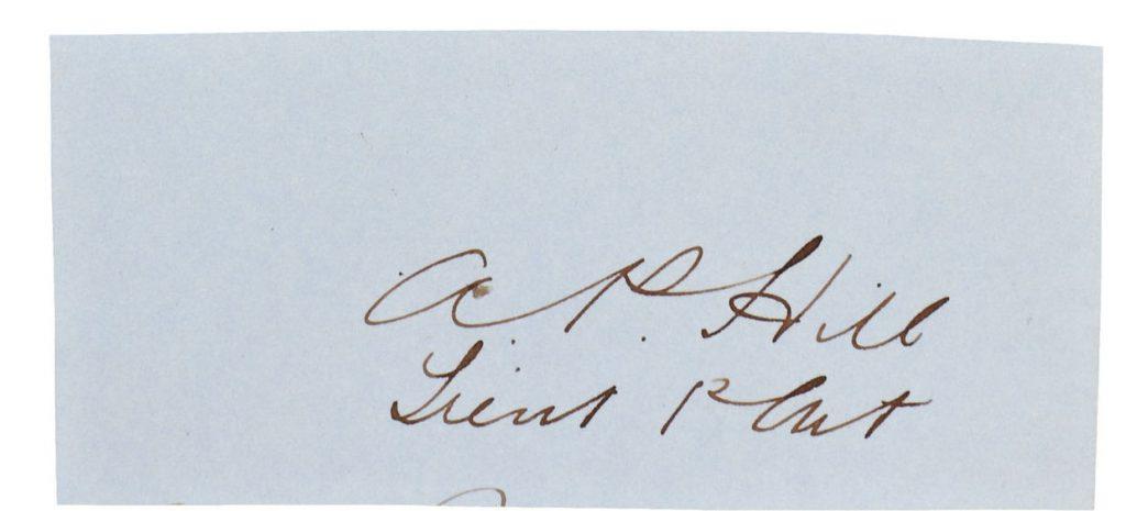 AP Hill Autograph