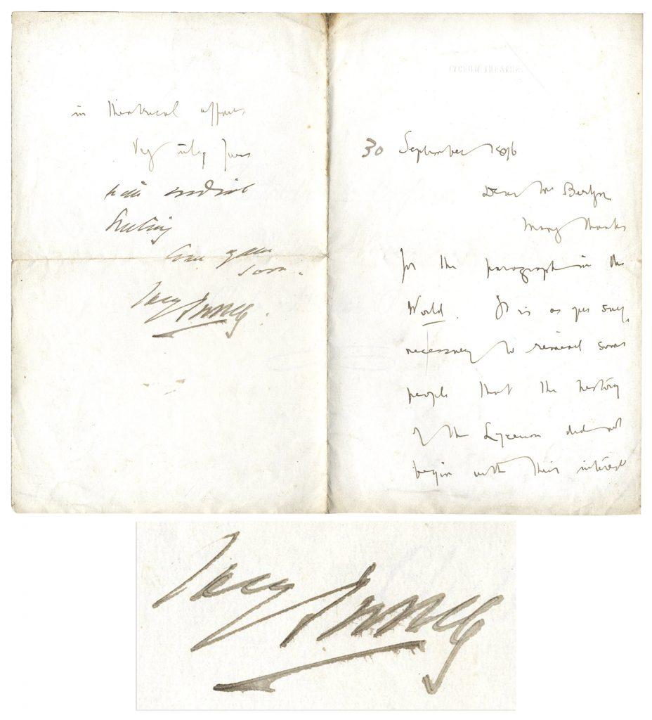 Bram Stoker Autograph