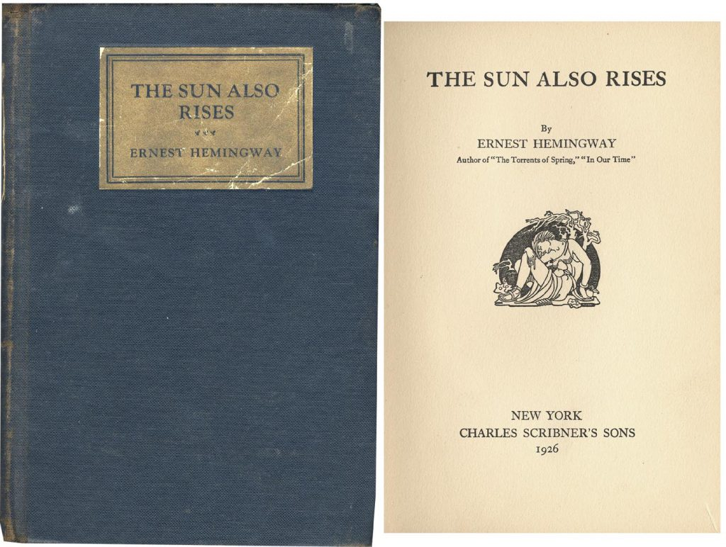 Sun Also Rises 1st Edition
