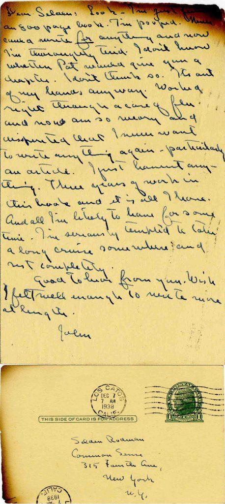 John Steinbeck autograph