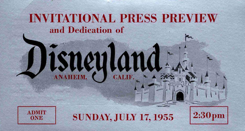1955 Disneyland Press Pass