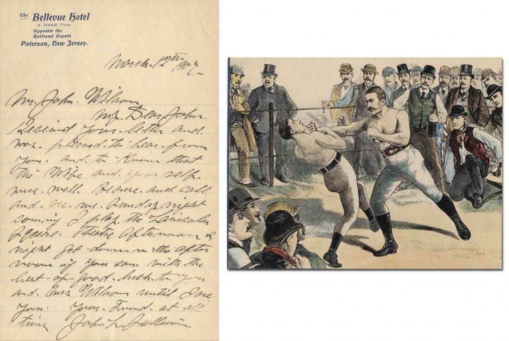 John L. Sullivan Autograph Letter Signed