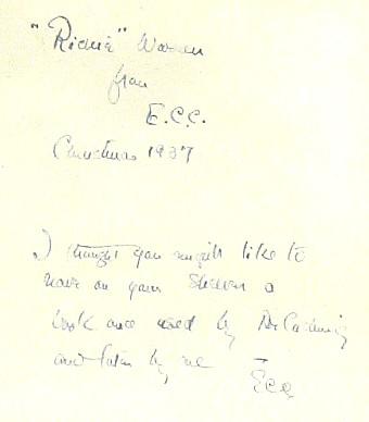 William Osler autograph