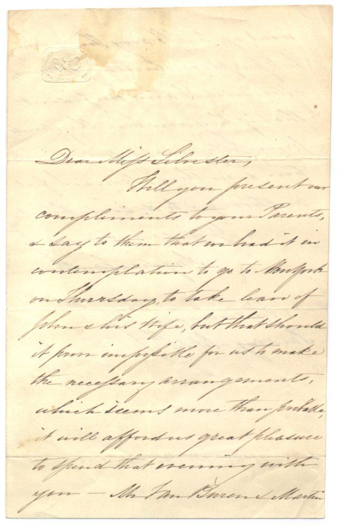 Angelica Van Buren Autograph