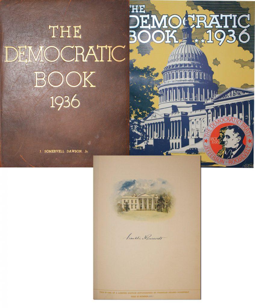 Franklin D Roosevelt Democratic book signed