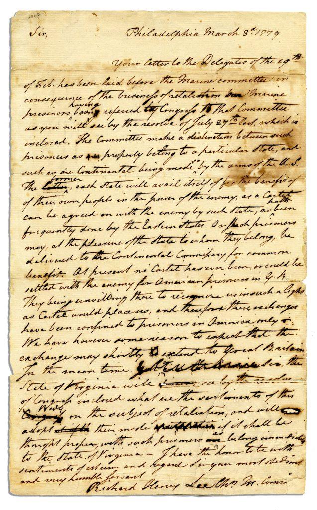 Gilbert Stuart autograph
