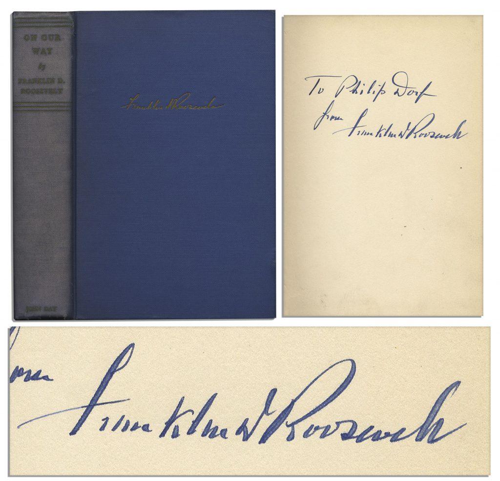 Franklin D Roosevelt D-Day Prayer signed