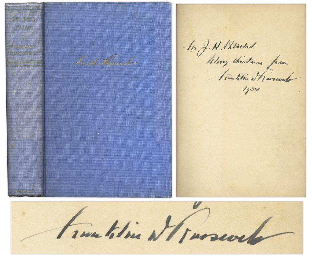 Franklin D Roosevelt On Our Way signed