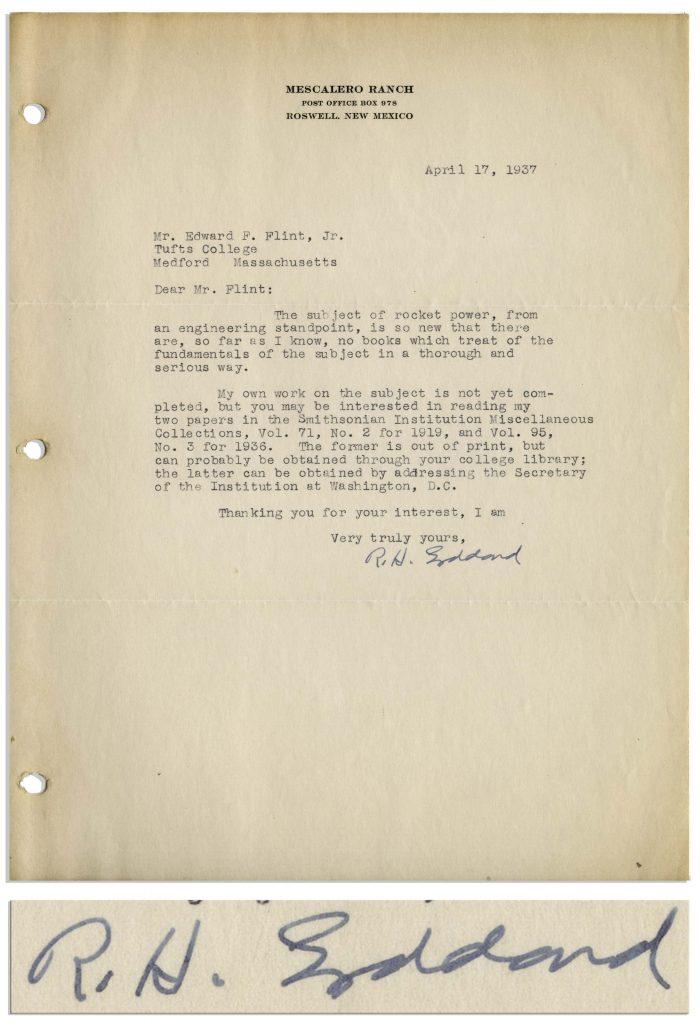 Robert Goddard autograph