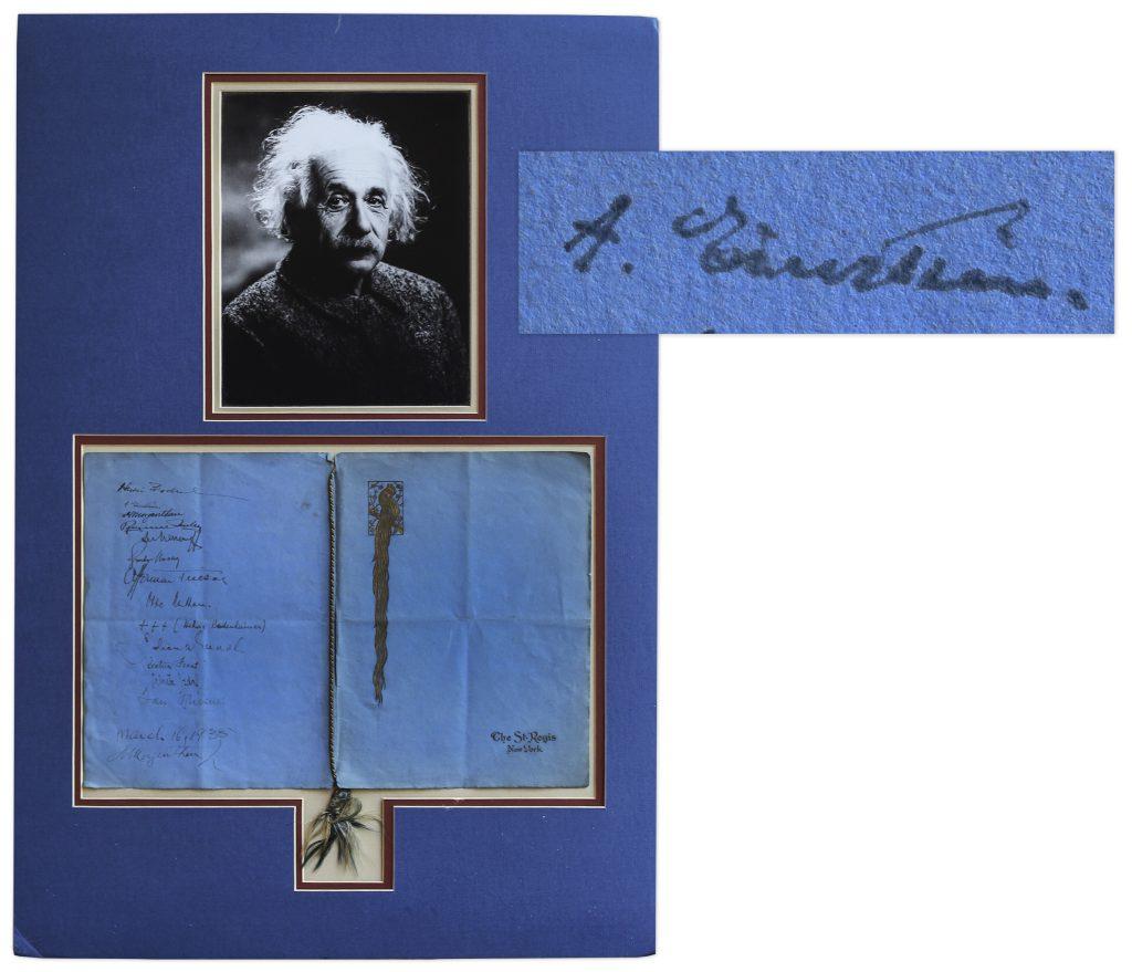 Hendrik Antoon Lorentz autograph