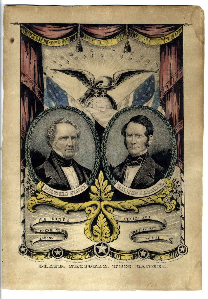 John C Breckinridge campaign ribbon