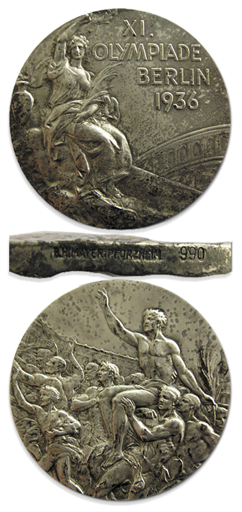Silver 1948 London Olympics Medal
