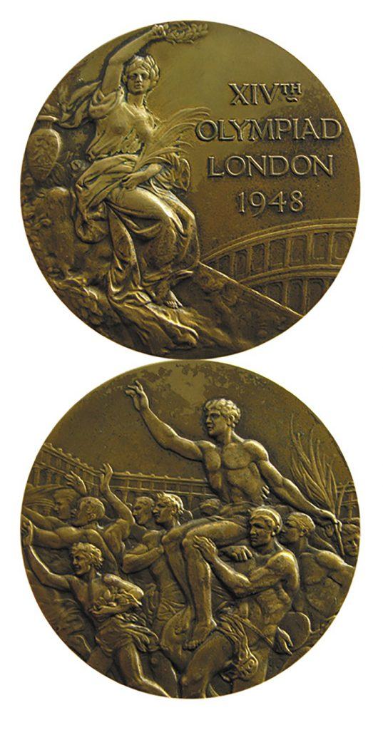 Gold 2012 London Olympics medal