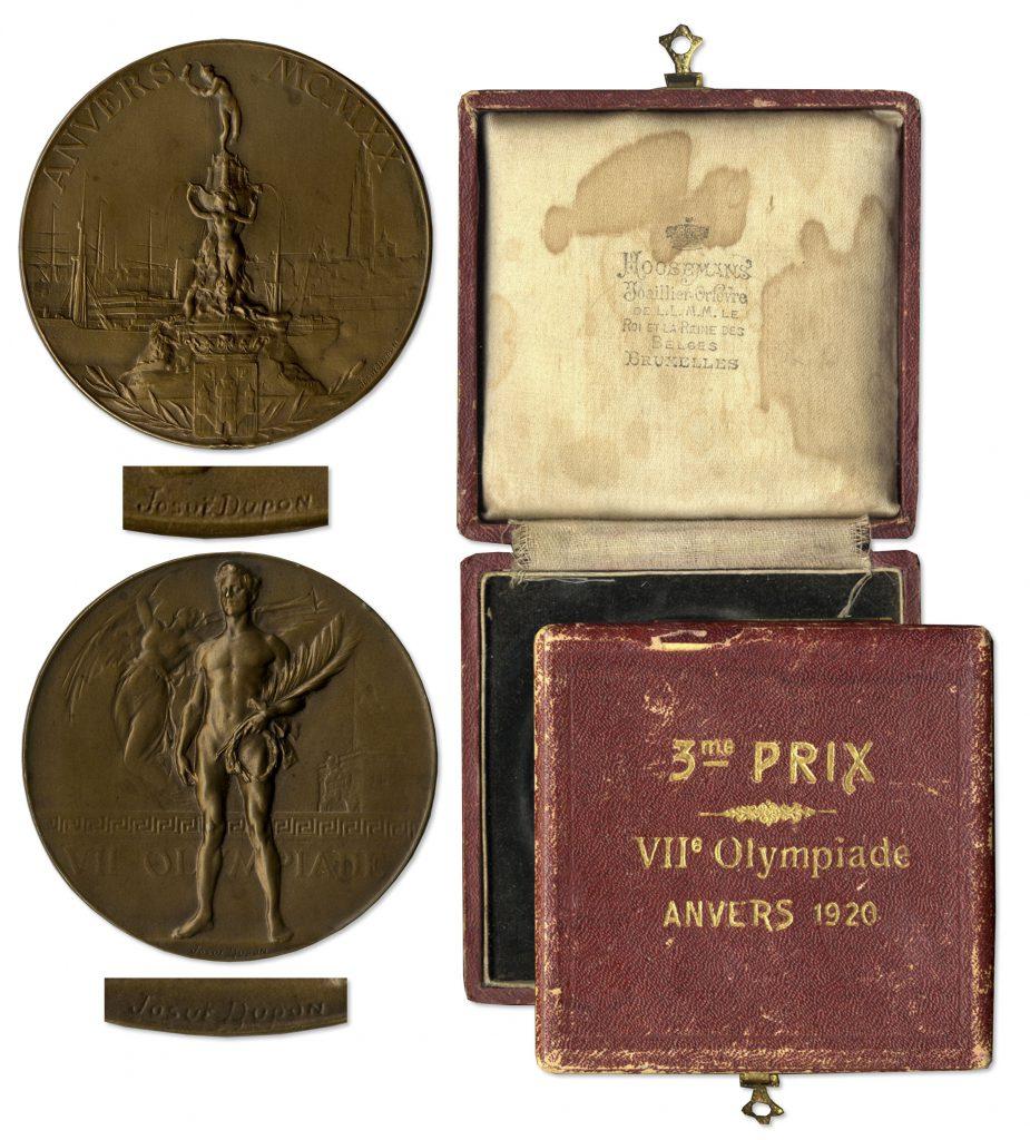 Bronze 1920 Antwerp Olympics Medal