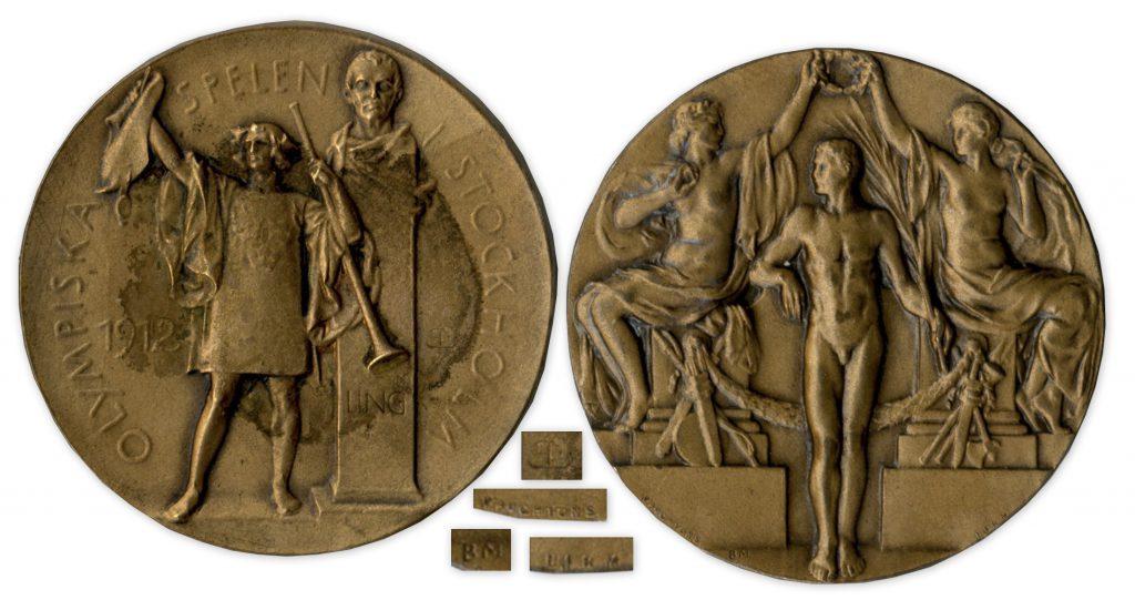 Bronze 1912 Stockholm Olympics Medal