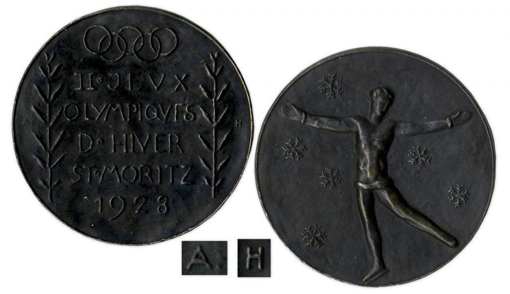 Bronze 1928 St Moritz Olympics Medal